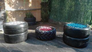 Ideas para reciclar neumáticos - Puff