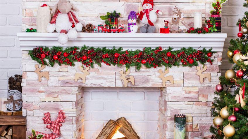 Decorar la chimenea en Navidad Hogarmania