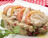 Ensalada de quinoa y rape