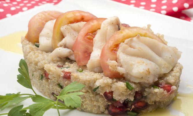 Receta de ensalada de quinoa y rape karlos argui ano for Cocina quinoa con verduras