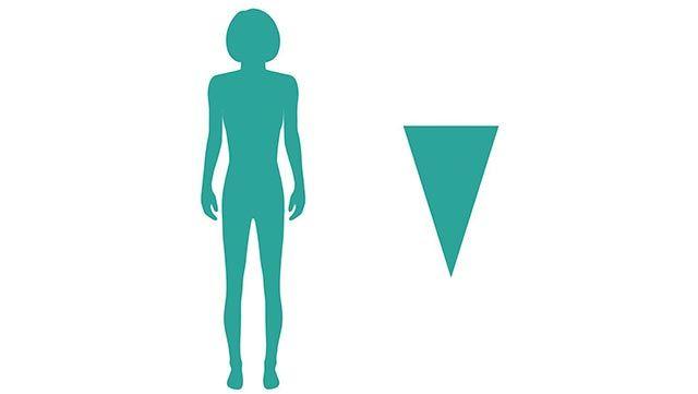 cuerpo forma triángulo invertido