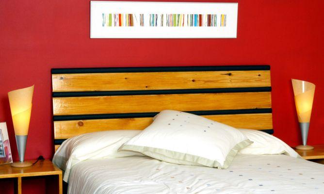 Cabecero de cama de madera bricoman a - Hacer cabecero de madera ...