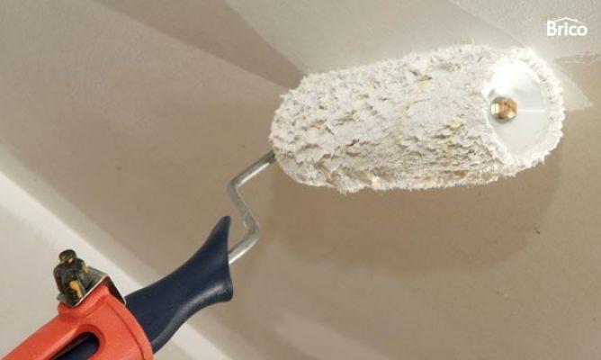 C mo pintar un techo de yeso laminado bricoman a - Como pintar techos ...