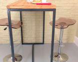 Hacer una mesa alta con estructura soldada