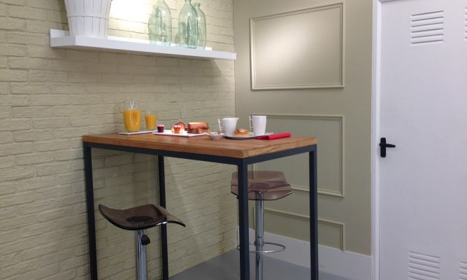 Hacer una mesa alta con estructura soldada - Bricomanía