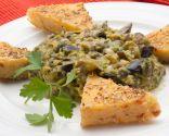 Revuelto de berenjenas y setas con polenta