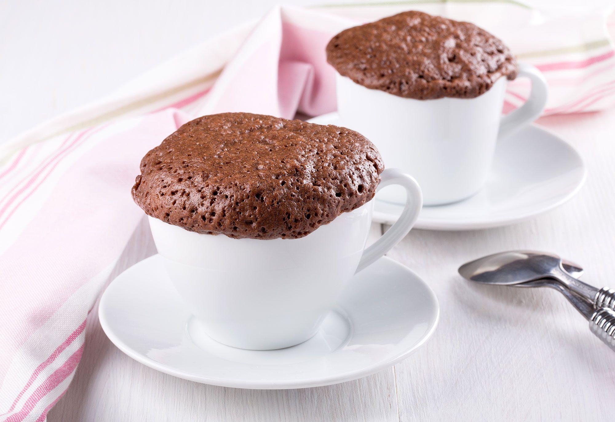 Mug cake de chocolate en microondas