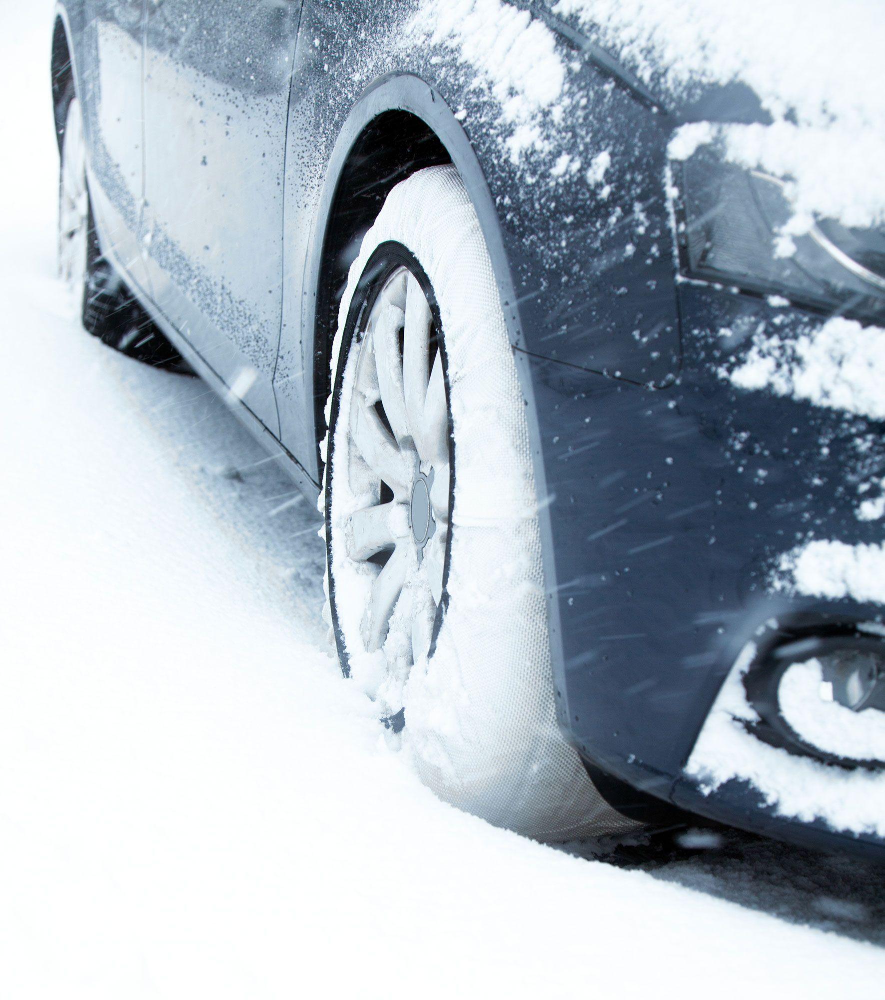 poner cadenas textiles nieve coche