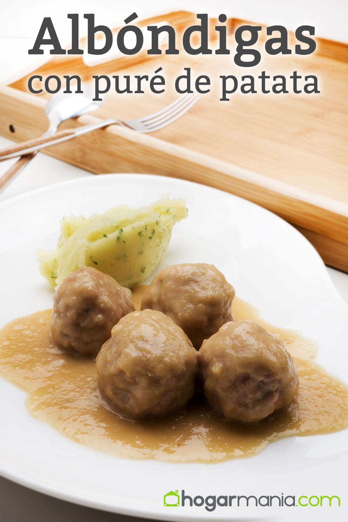 Albóndigas con puré de patata