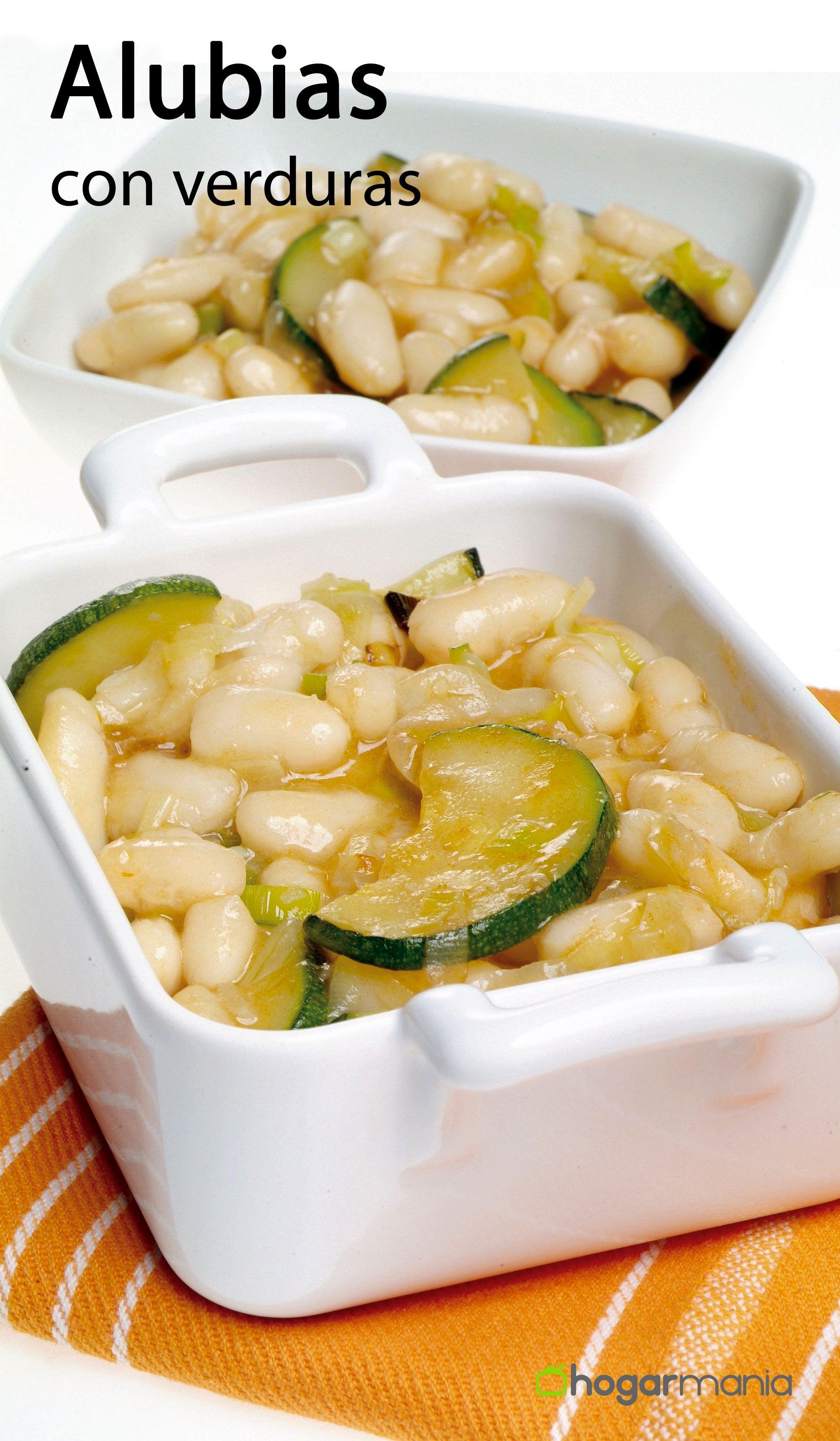 Receta alubias verduras