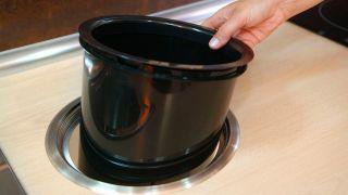 Colocar cubo de basura en encimera