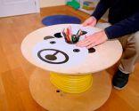 Hacer una mesa infantil con una bobina de madera