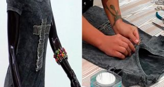Decorar camisetas con imperdibles estilo rockero