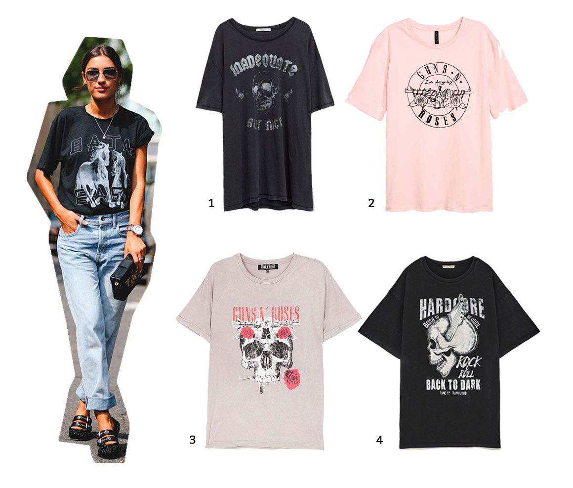 Camisetas inspiración rockera 1