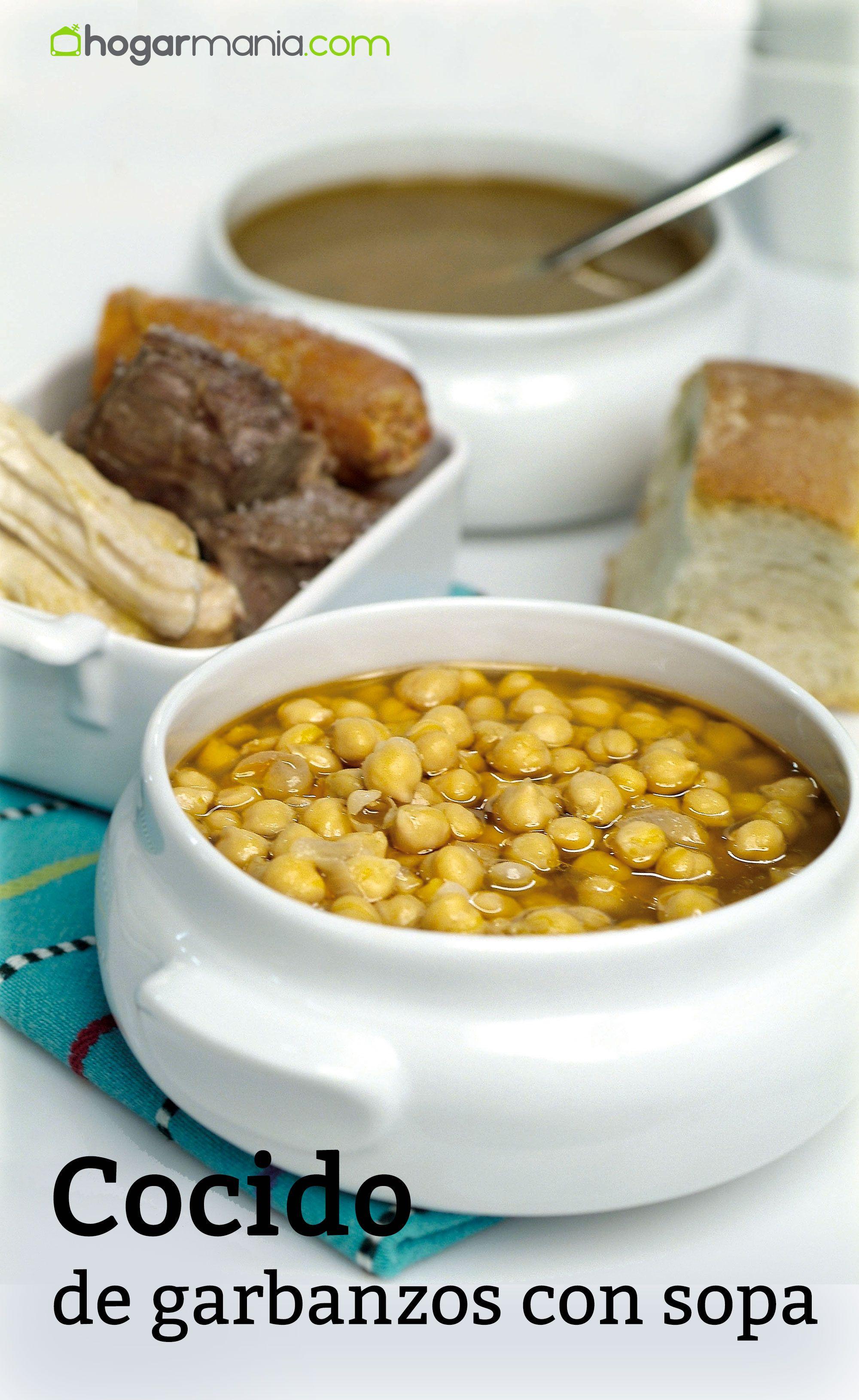 Cocido de garbanzos con sopa
