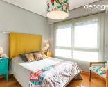 Dormitorio colorido de estilo étnico