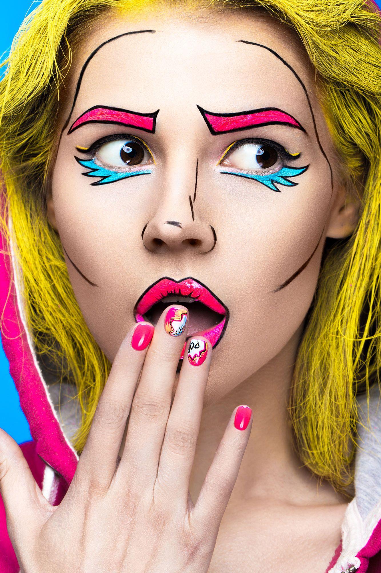 maquillaje cómic