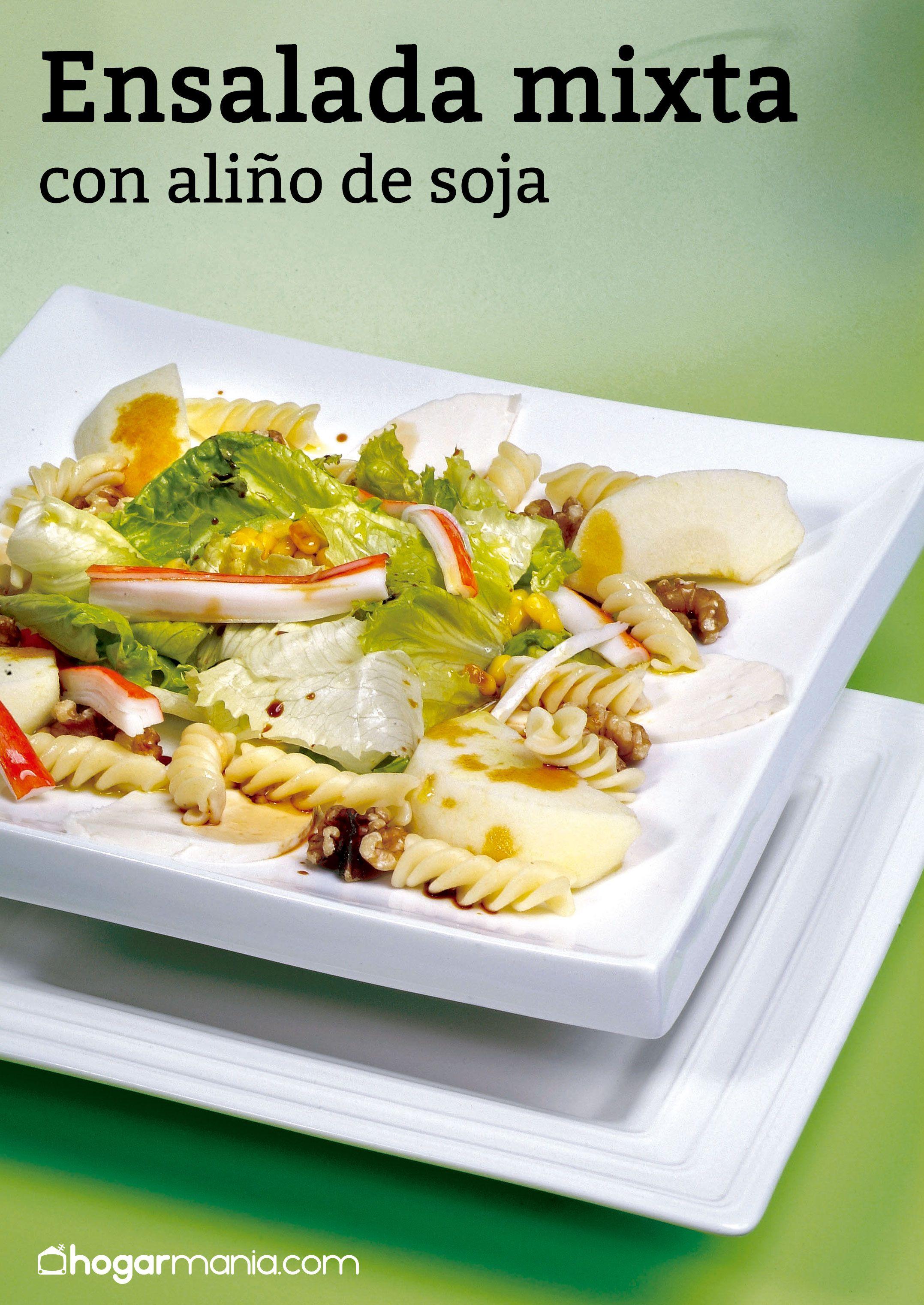 Ensalada mixta con aliño de soja
