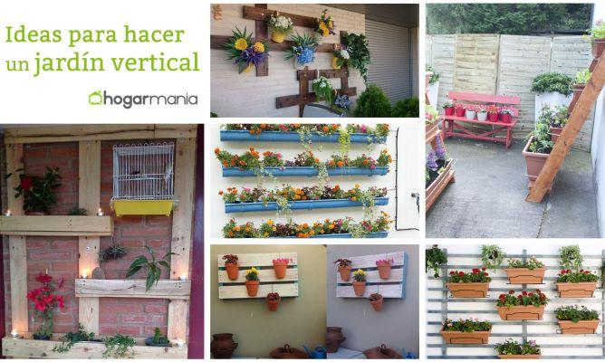 Ideas para hacer un jard n vertical hogarmania for Bricolaje para jardin