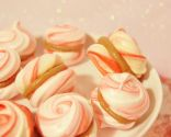 Macarons rellenos de crema de chocolate de naranja