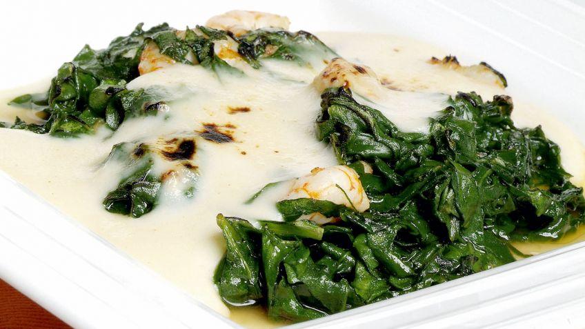 receta con espinacas
