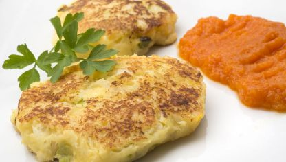 Receta de milhojas de patata y bacalao hogarmania - Aperitivos con bacalao ...