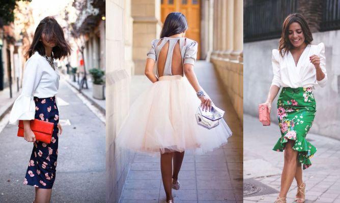 ce9c7e8c59 Cómo llevar falda a las bodas - Hogarmania