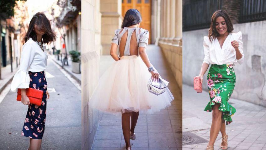 Cómo llevar falda a las bodas - Hogarmania 2c2ff3fdb0c1