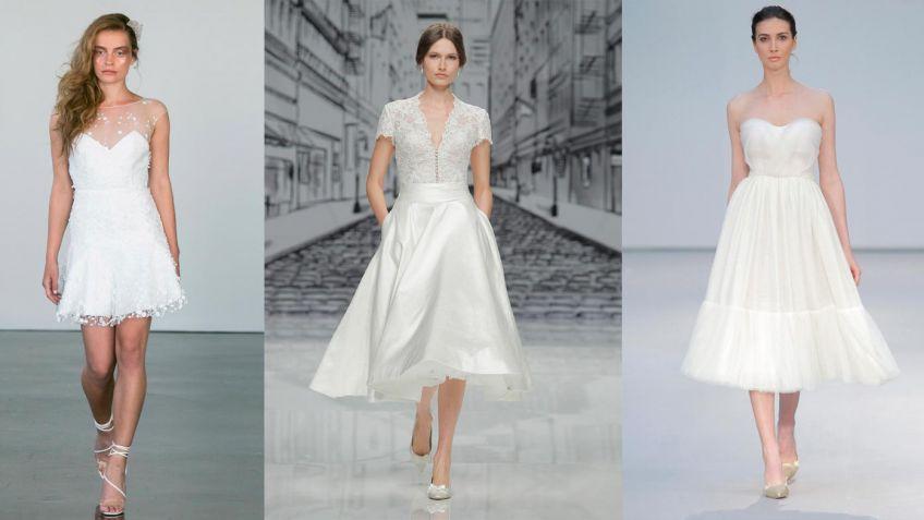 Vestido de novia que se hace corto