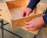 Reutilizar cajas para hacer estantería