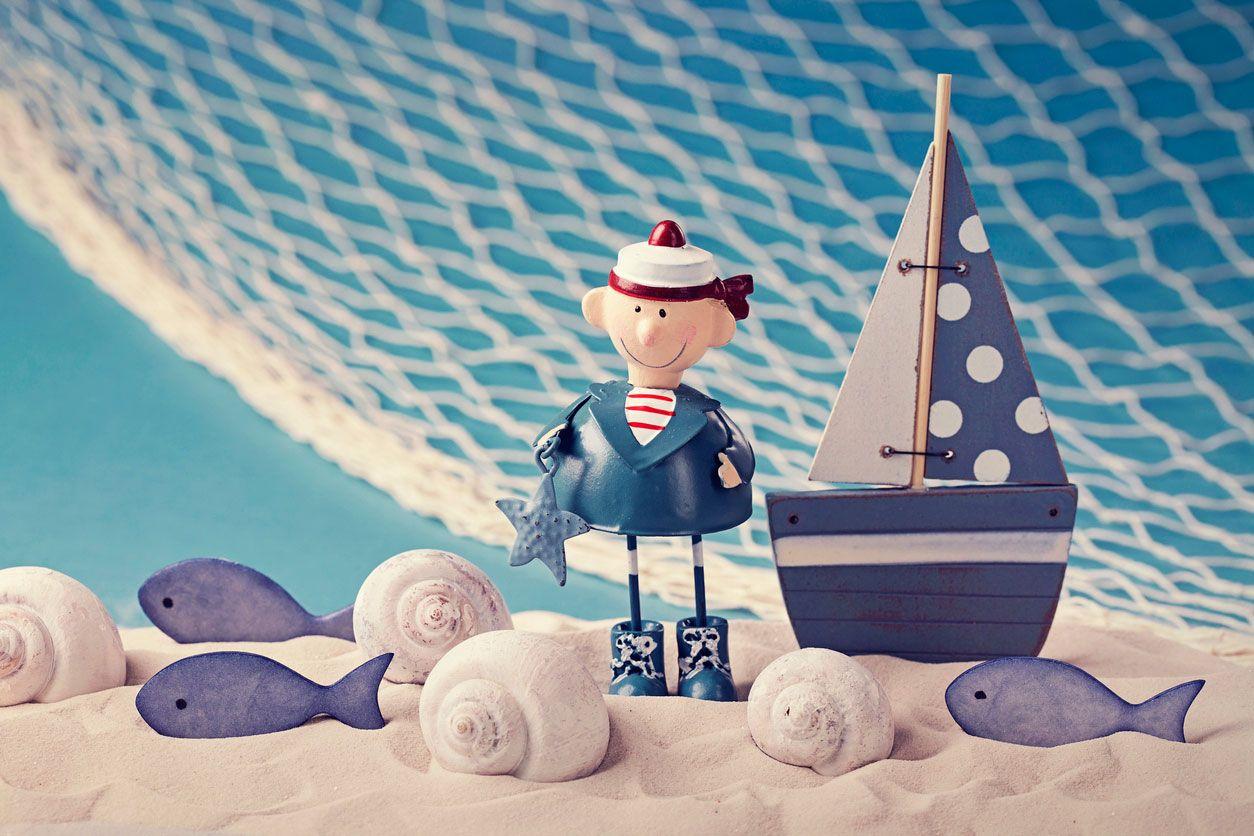 Decorar mesa de postres o cumpleaños de estilo marinero
