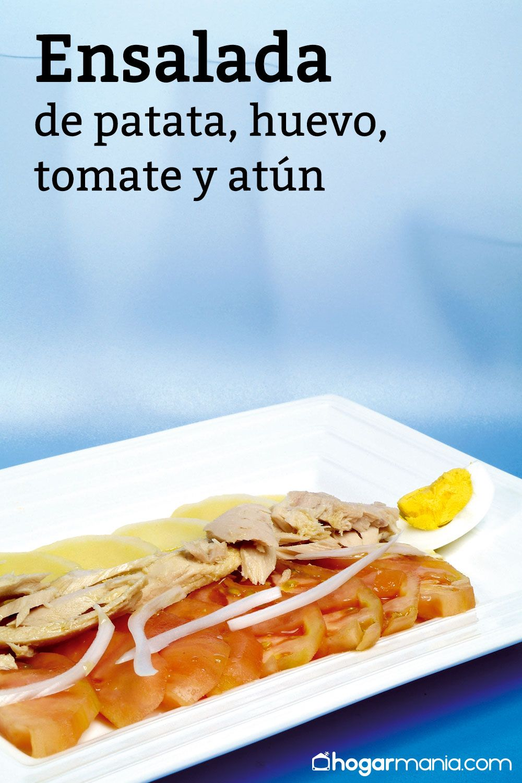 Receta ensalada de patata, huevo, tomate y atún