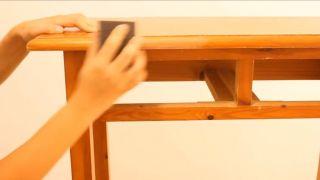 Envejecer mueble de madera con efecto pintura a la tiza - Paso 1