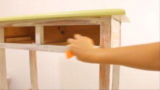Envejecer mueble de madera con efecto pintura a la tiza - Paso 5