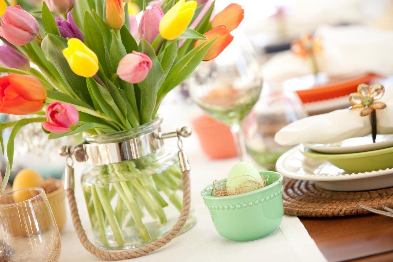 Flores para la decoración de Pascua