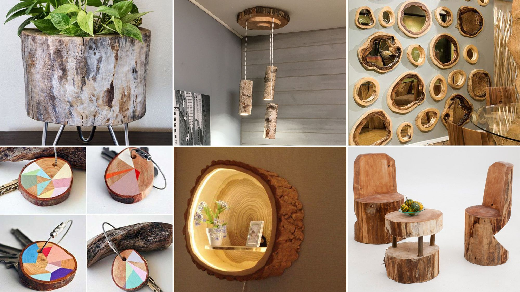 Ideas DIY con troncos de madera