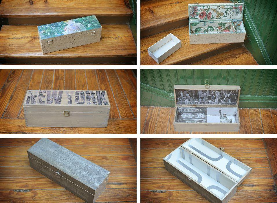 Ideas diy para reciclar cajas de madera hogarmania - Decorar cajas de fruta de madera ...