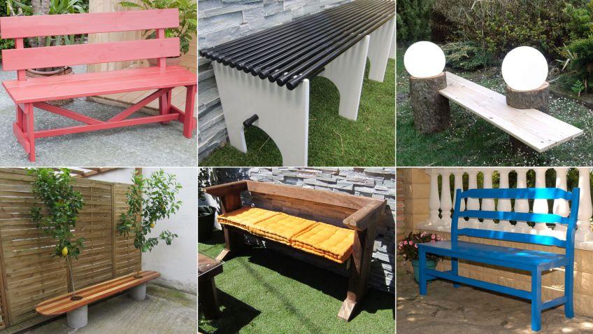 Ideas para hacer un banco para el jardín - Hogarmania