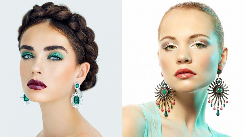 Maquillaje de ojos que combine con vestido verde