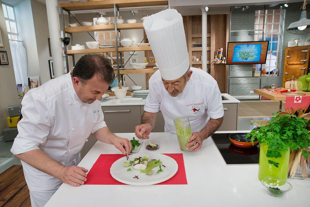 Martin Bersategui y Karlos Arguiñano