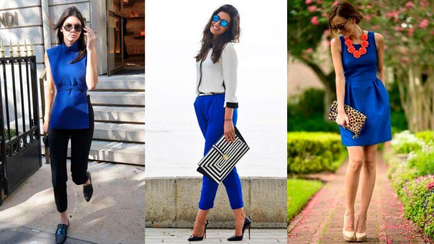 Color de sandalias para vestido azul