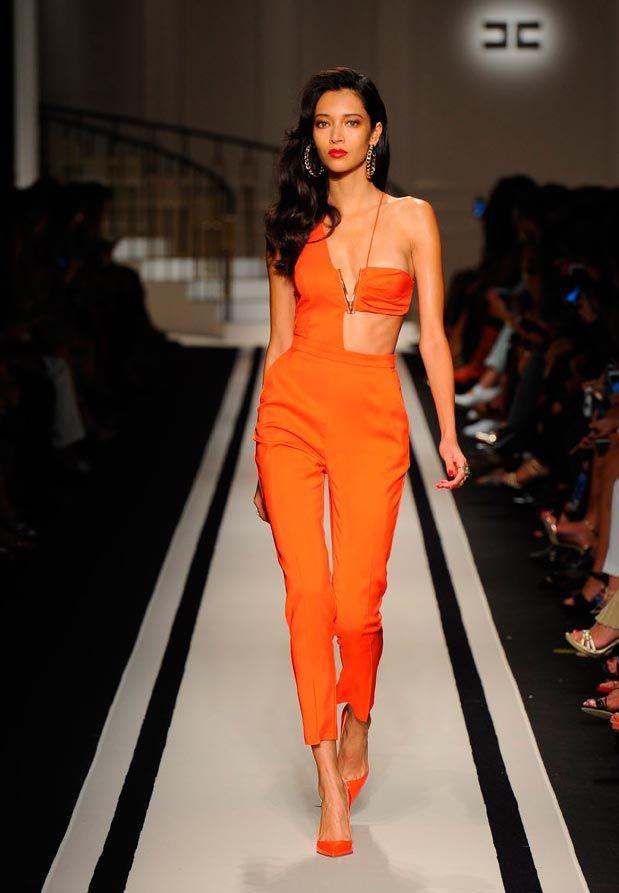 moda monos de vestir naranja