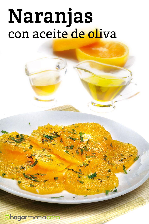 Naranjas con aceite de oliva