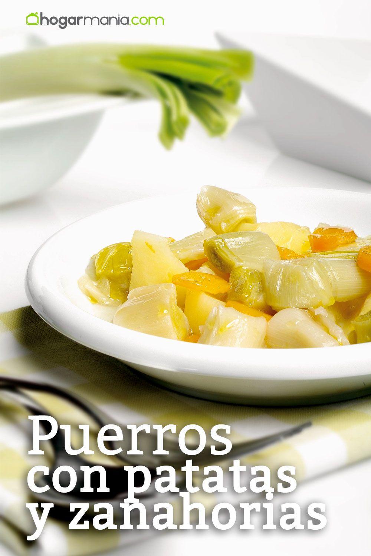 Puerros con patatas y zanahorias
