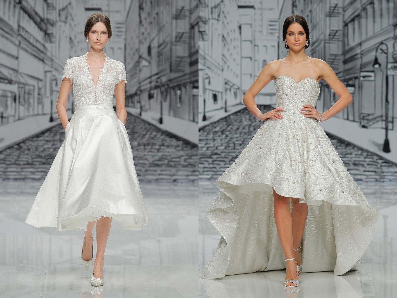 Vestidos de novia cortos fotos