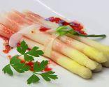 espárragos blancos con vinagreta de frambuesas