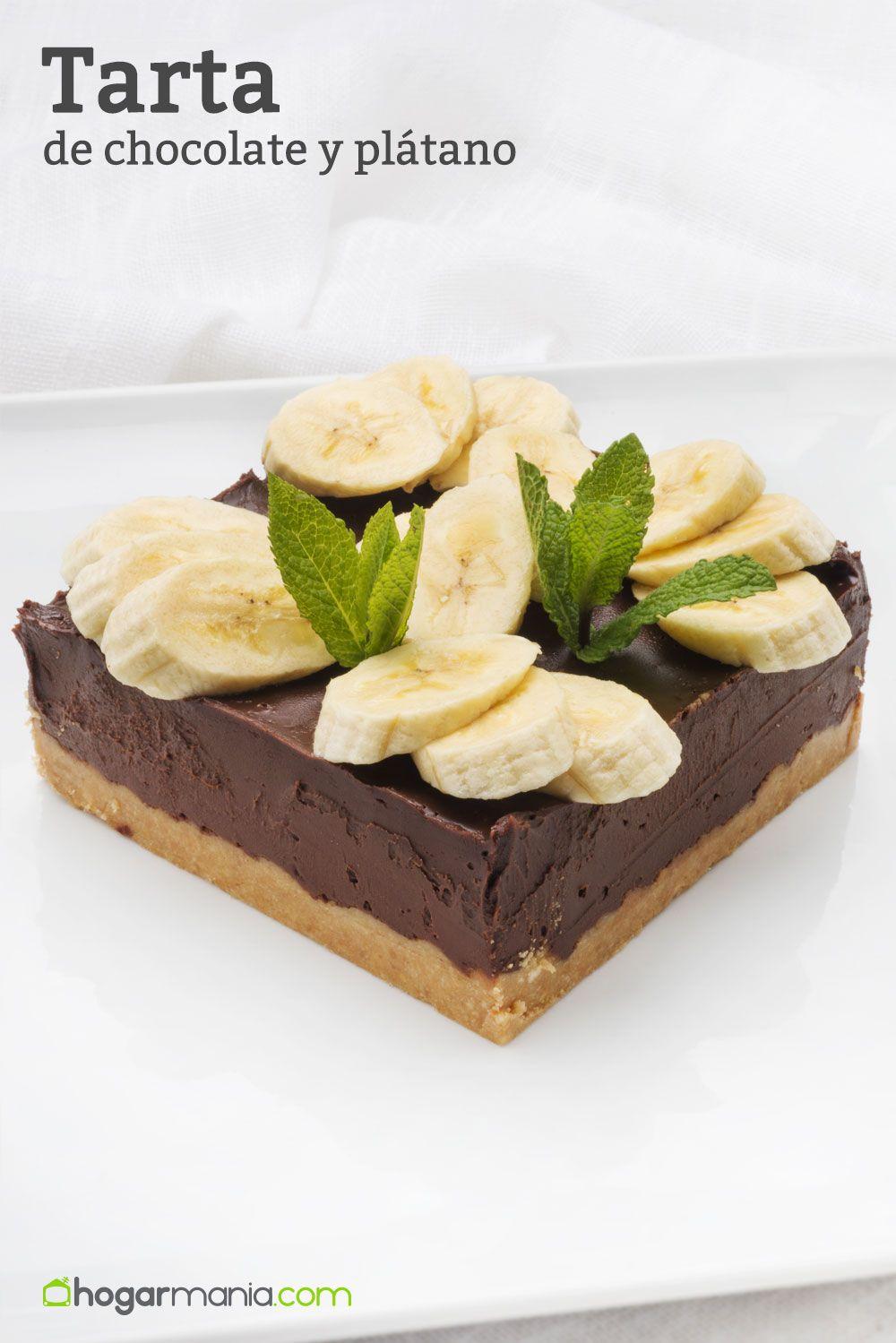 Tarta de chocolate y plátano