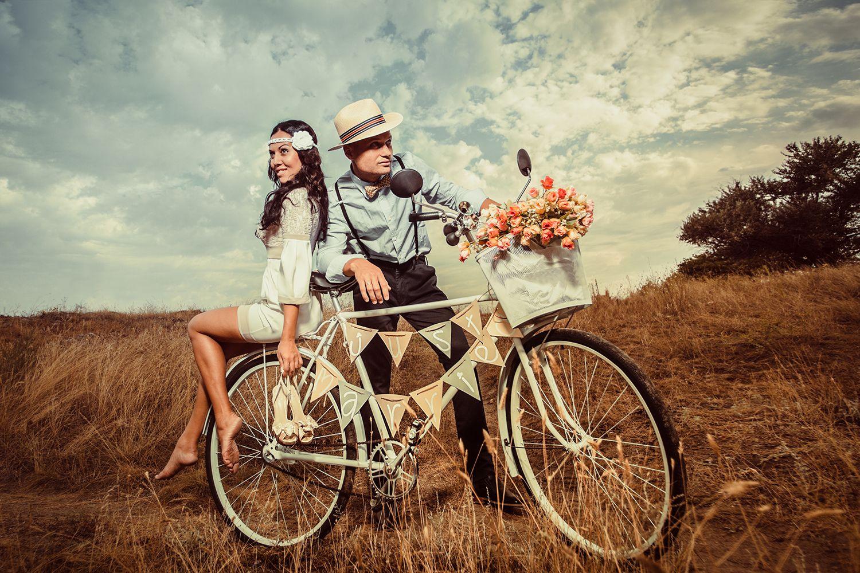 bicicleta boda vintage