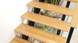 Leds empotrados en escalera