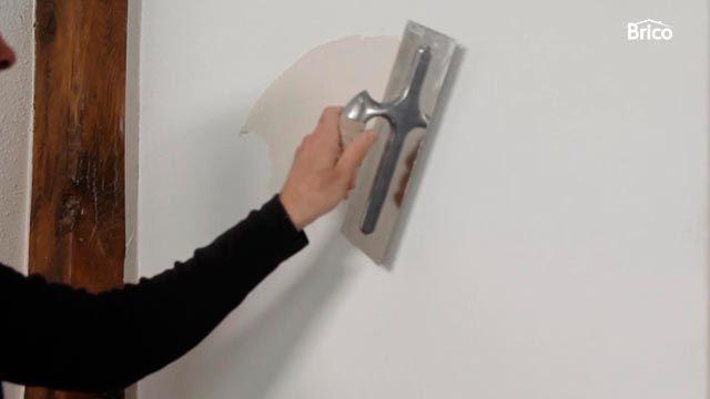 Cómo alisar pared de gotelé